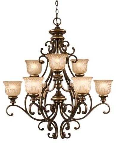 Crystorama Norwalk Chandelier - 33.5W in. Bronze Umber traditional-chandeliers
