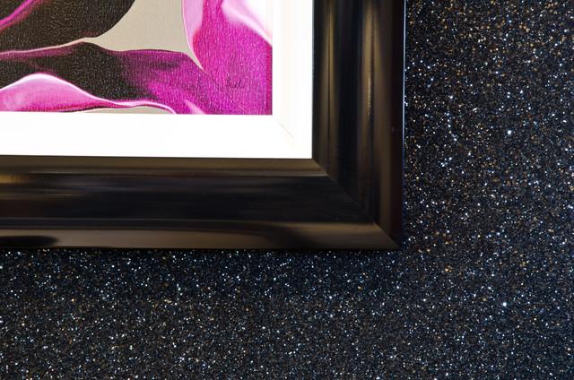 Glitter wallpaper contemporary wallpaper other metro for Glitter wallpaper bedroom ideas