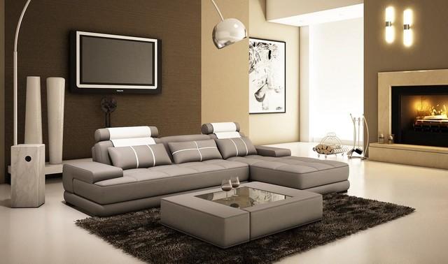 Divani Casa 5005a Mini Modern Grey And White Bonded