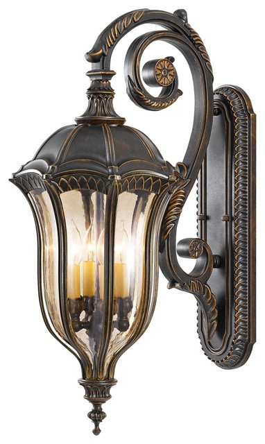 """Traditional Feiss Baton Rouge 30"""" High Outdoor Wall Lantern traditional-outdoor-lighting"""