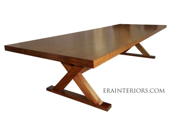 Contemporary Walnut Dining Table -