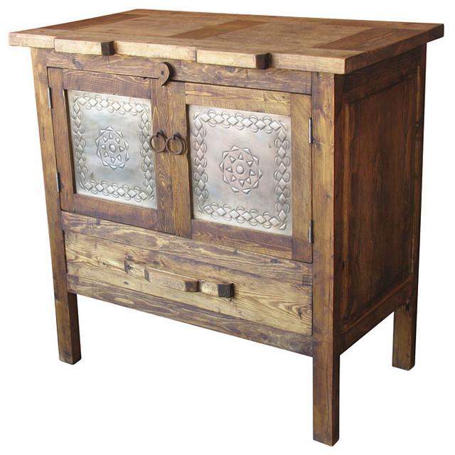 Rustic barnwood sideboard farmhouse buffets and