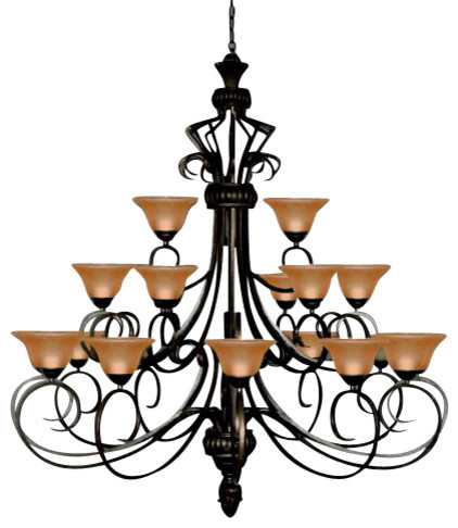 Foyer / Entryway Wrought Iron chandelier Lighting traditional-chandeliers