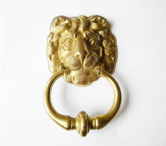 Vintage lion head large door knocker ny the hope tree eclectic door knockers by etsy - Large lion head door knocker ...