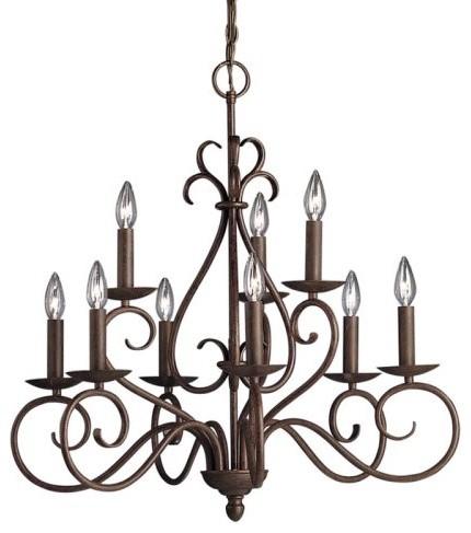 Kichler Norwich Chandelier - 28W in. Tannery Bronze traditional-chandeliers