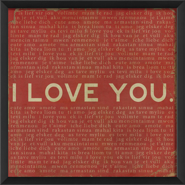 'I Love You' Print contemporary-prints-and-posters