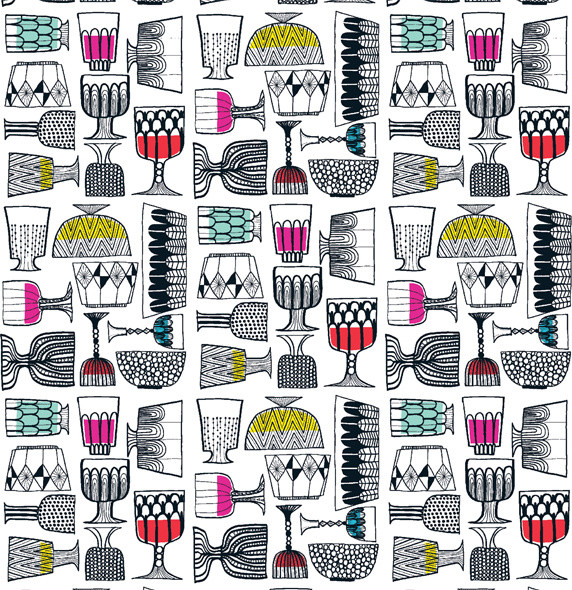 KIPPIS Upholstery Fabric by Marimekko eclectic-upholstery-fabric
