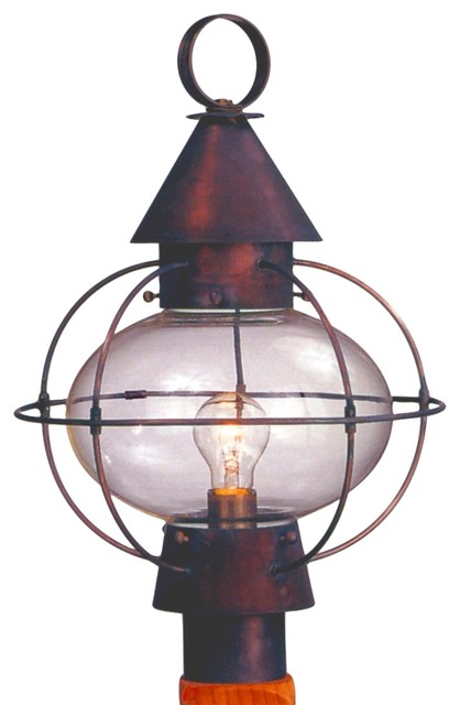 Cape Cod Onion Post Mount Copper Lantern by Lanternland traditional-post-lanterns