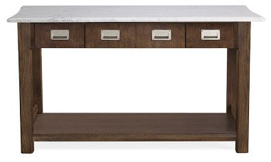 Newland Kitchen Island, Modern Oak traditional kitchen islands and kitchen carts