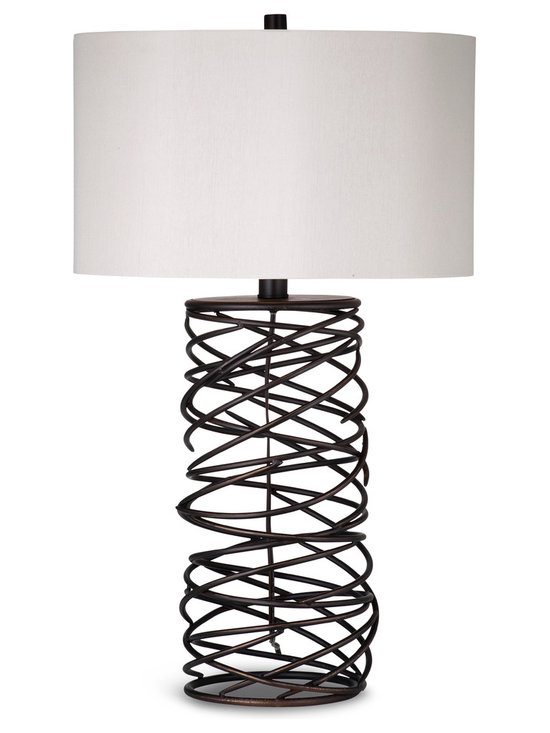 Bassett Mirror - Whittier Table Lamp - A beautiful contemporary table lamp that will work in almost any lighting setting.  With an unique bronze finish base, this lamp will enhance the look of any room.