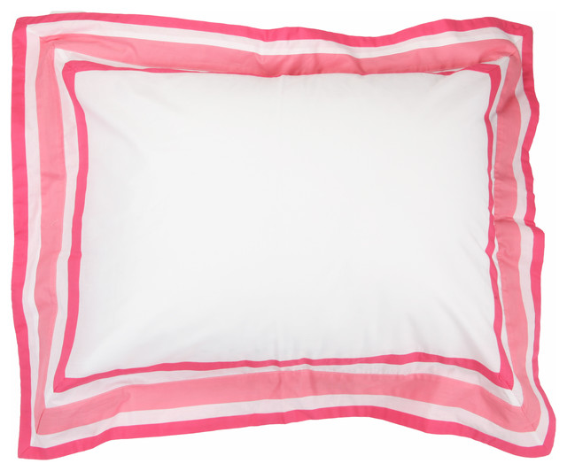 Simplicity Hot Pink = Standard Pillowcase contemporary-pillowcases-and-shams