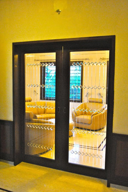 Traditional Glass Partition Design Traditional Living