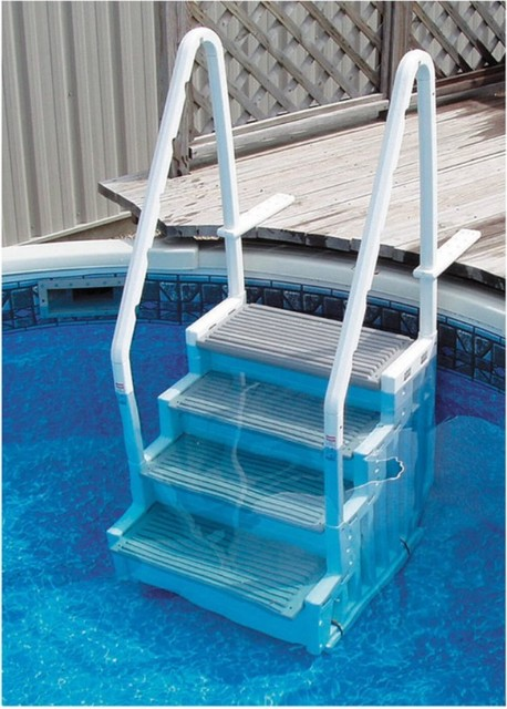 Confer plastics above ground pool steps modern desk accessories by hayneedle - Above ground pool steps for decks ...