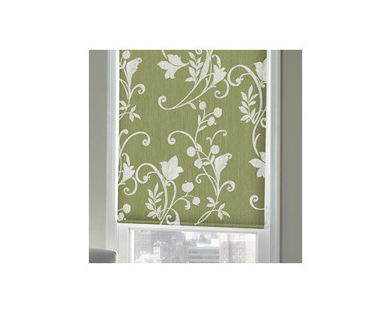 """Blindsgalore - Blindsgalore Expressions Roller Shades: Botanical Patterns - Vines and flowers have been given a fresh look for today's design trends and color palettes.  These fresh patterns appear on the entire shade.  Add additional texture with one of our upgrade fabric choices!  Our Expressions Roller Shades are printed """"on-demand"""" on your choice of two fabrics and are available in a wide array of colors, styles, patterns and designs."""