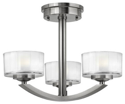 Hinkley Lighting 3871BN 3 Lt Foyer Meridian Collection ceiling-lighting