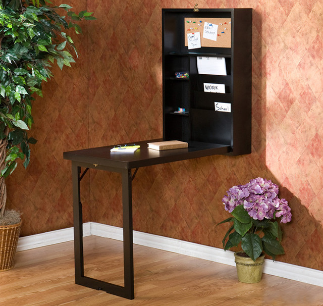 Wall mounted fold down desk contemporary desks and - Wall mounted folding table ...