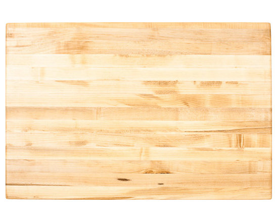 """Inviting Home - Delray Butcher Block Top - Hard maple butcher block top for kitchen island 48"""" x 32"""" x 1-3/4"""" Hard maple butcher block top for kitchen island. Mounting hardware and installation instructions included. Made in the USA with FDA-approved food-safe glues and finishing materials."""