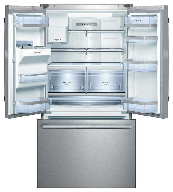 "Bosch 800 Series 36"" Standard Depth Bottom-freezer, Stainless Steel 