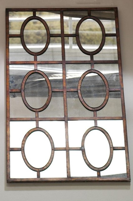 Antiqued copper mirror traditional wall mirrors by home decorators collection Home decorators collection mirrors