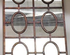 Antiqued Copper Mirror traditional-mirrors