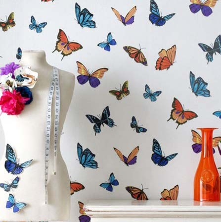 Julien macdonald flutterby black wallpaper eclectic for Flutterby wallpaper