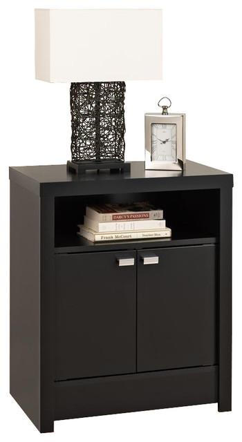 Series 9 designer 2 door tall nightstand bla black for 30 tall black nightstand