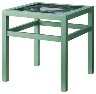 Threshold Lattice-Top Accent Table, Green modern-side-tables-and-accent-tables