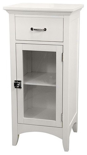 Awesome Neal Floor Cabinet W Double Glass Doors For Bathroom Storage White Or