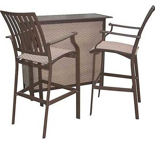 Panama Jack Island Breeze 3 Piece Bar Set Traditional Patio Furniture And