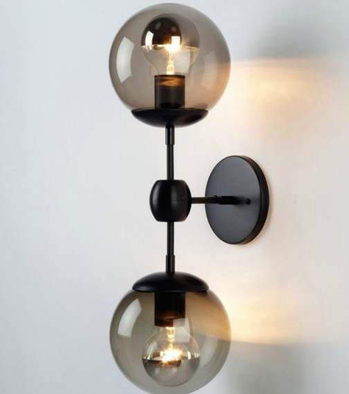 Antique Glass Ball Wall Sconce and Lights - contemporary - wall