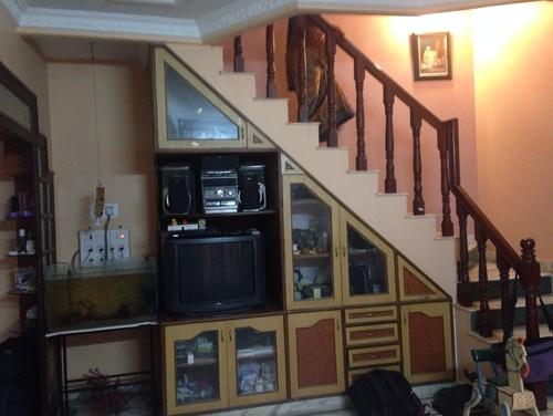 New tv cabinet under stair - Cabinet design under stairs ...