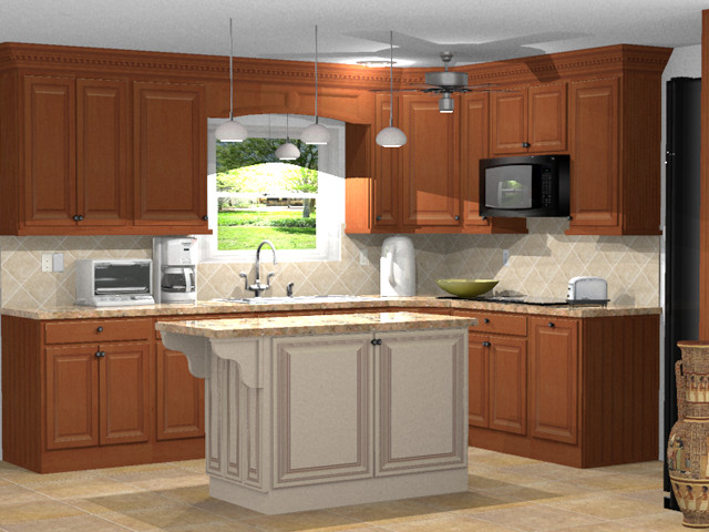 Kitchen 3d rendering traditional rendering other metro by kitchen design software Kitchen design rendering software
