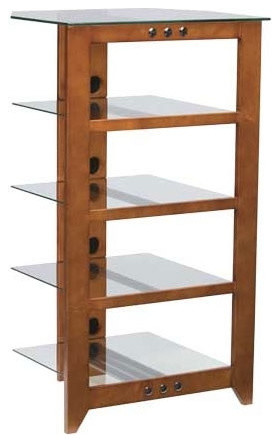 Natural AV Series Audio Rack - Modern - Display And Wall Shelves