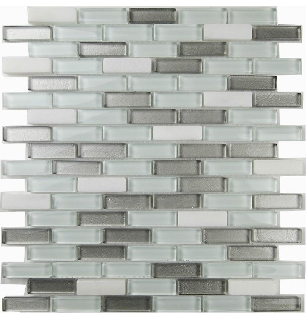 Glass stone mosaic kitchen backsplash tiles glass wall tiles SGMT081 modern-mosaic-tile