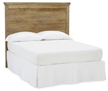 Mason Reclaimed Wood Headboard Full Wax Pine Finish: traditional wood headboard