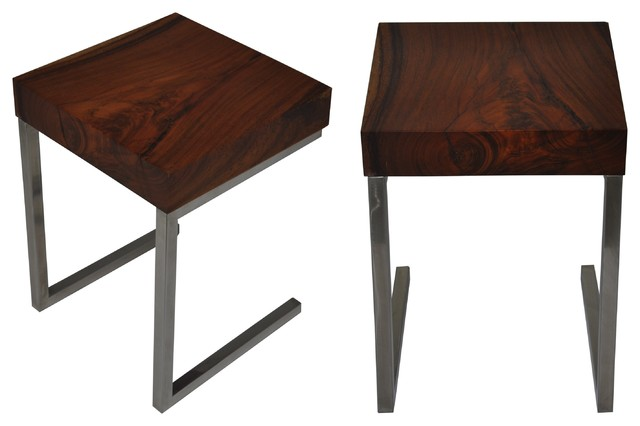Salvaged Wood Side Table Modern Tables And End