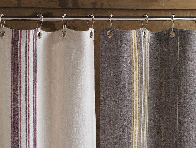 Beautiful Coyuchi Rustic Linen Shower Curtain   Eclectic   Shower Curtains .