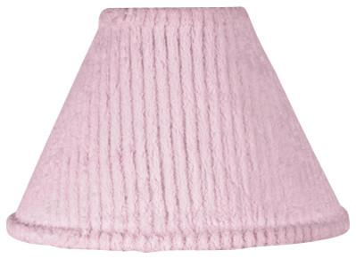 Pink Chenille Lamp Shade contemporary-lamp-shades