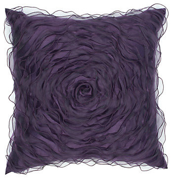 "Hollywood Pillow 20"" - Aubergine modern-decorative-pillows"
