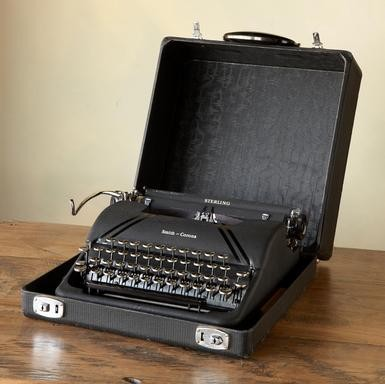 Smith-Coronia Sterling Typewriter traditional desk accessories