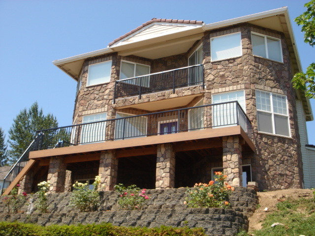 Exterior Remodel - Cultured Stone traditional-exterior