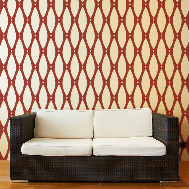 Beaded Pattern Wall Stencil For Painting Contemporary