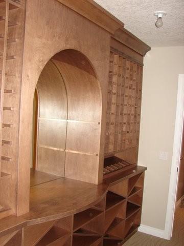 Wine room storage-and-organization