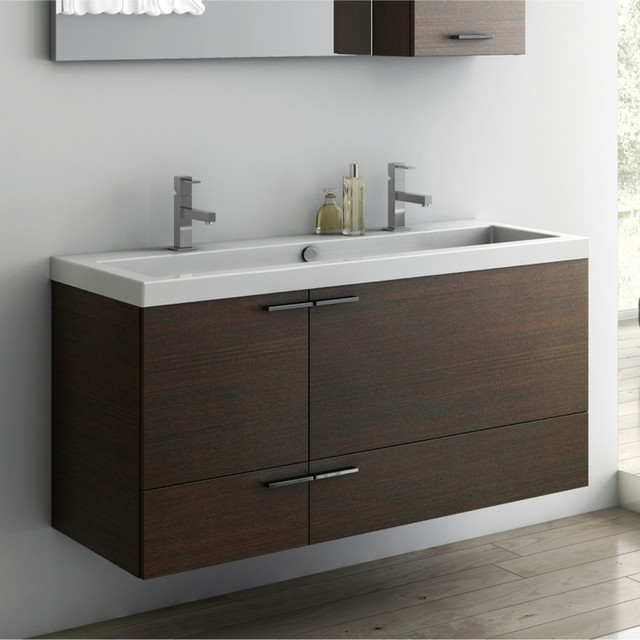 47 Inch Vanity Cabinet With Fitted Sink Contemporary Bathroom Vanities And Sink Consoles