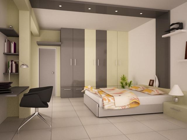 Home design bedroom interiors by ashwin architects for Room design mahim