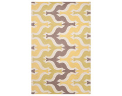 Surya Aimee Wilder Yellow Zigzag Rectangle Area Rug contemporary rugs
