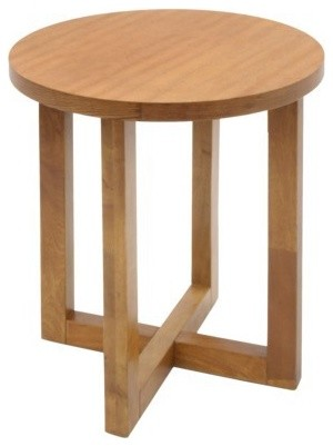 Wood Side Table : ... Wood End Table - Medium Oak contemporary-side-tables-and-end-tables
