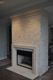 Stone fireplace surrounds contemporary atlanta by