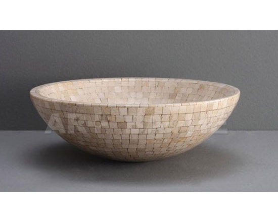Maya Stone Vessel By Art-Bathe - At first glance one imagines the Maya was taken from an ancient temple its nod toward the marble vessels of the old world are obvious,but this is not an unrefined caricature. Mayas understated simplicity is time tested and effortless.