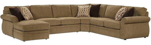 Broyhill veronica sectional with laf chaise 6170 2q for Broyhill chaise